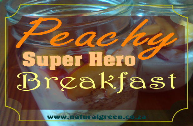Peachy Super Hero grab-n-go Kefir Oats!