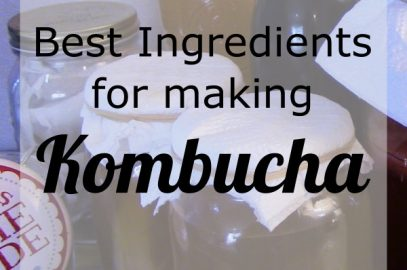 The best ingredients for making kombucha